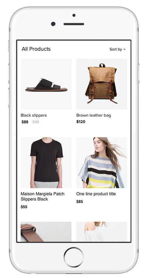 Online store on mobile